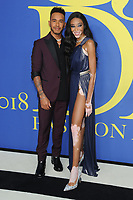 BROOKLYN, NY - JUNE 4: Lewis Hamilton and Winnie Harlow at the 2018 CFDA Fashion Awards at the Brooklyn Museum in New York City on June 4, 2018. <br /> CAP/MPI/JP<br /> &copy;JP/MPI/Capital Pictures
