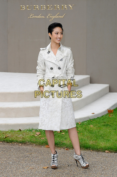 LONDON, ENGLAND - SEPTEMBER 21:  Guey Lun Mei attending the Burberry Prorsum Spring/Summer 2016 show during London Fashion Week at Kensington Gardens, on September 21, 2015 in London, England.<br /> CAP/MAR<br /> &copy; Martin Harris/Capital Pictures