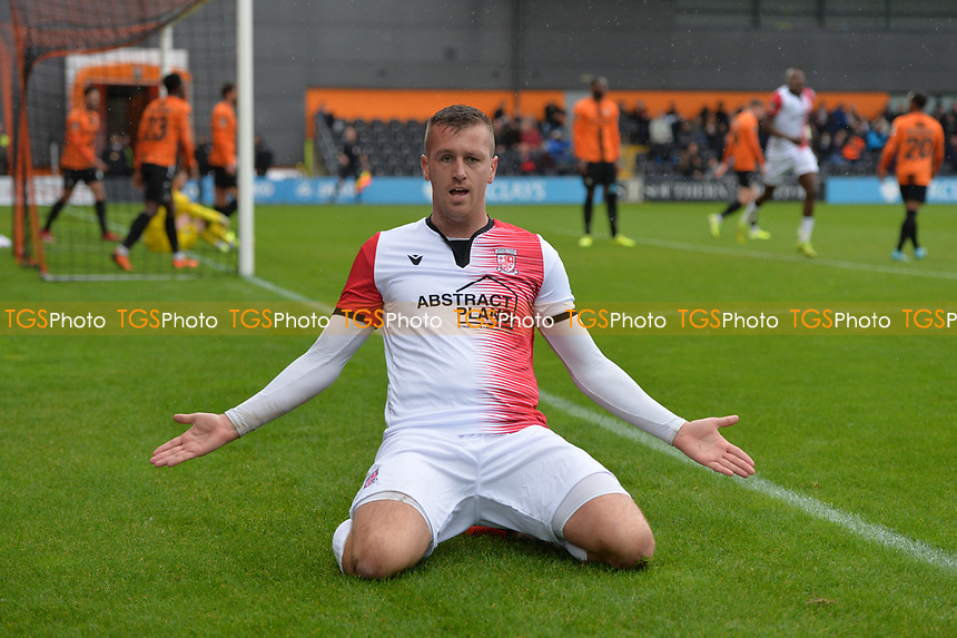 Ben Gerring Of Woking scores the first Goal and celebrates during Barnet vs Woking, Vanarama National League Football at the Hive Stadium on 12th October 2019
