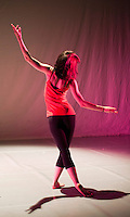 Dance students in rehearsal for end of year show, Kingston College.