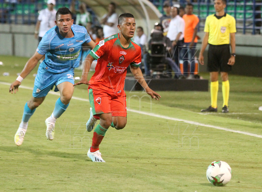 MONTERÍA - COLOMBIA ,31-08-2019:Acción de juego entre los equipos  Jaguares de Córdoba y  Patriotas Boyacá durante partido por la fecha 9 de la Liga Águila II 2019 jugado en el estadio Municipal Jaraguay de Montería . / Action game between teams Jaguares of Cordoba and Patriotas Boyaca  during the match for the date 9 of the Liga Aguila II 2019 played at Municipal Jaraguay Satdium in Monteria City . Photo: VizzorImage / Contribuidor.