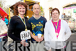 Myra O'Leary, Stephen Casey and Maura O'Brien who took part in the 10km Jack and Jill run up the hill in Kenmare.