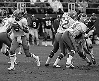 Chuck Ealey Winnipeg Blue Bombers quarterback during a game against the Ottawa Rough Riders 1974. Photo Scott Grant