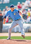 14 March 2016: Tampa Bay Rays pitcher Mark Sappington on the mound during a pre-season Spring Training game against the Atlanta Braves at Champion Stadium in the ESPN Wide World of Sports Complex in Kissimmee, Florida. The Ray fell to the Braves 5-0 in Grapefruit League play. Mandatory Credit: Ed Wolfstein Photo *** RAW (NEF) Image File Available ***