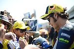 Valentino Rossi of Yamaha at the 2013 Red Bull United States Moto Grand Prix at Mazda Raceway Laguna Seca.
