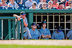 30 July 2017: Colorado Rockies Manager Bud Black watches play from the dugout during a game against the Washington Nationals at Nationals Park in Washington, DC. The Rockies defeated the Nationals 10-6 in the second game of their 3-game weekend series. Mandatory Credit: Ed Wolfstein Photo *** RAW (NEF) Image File Available ***