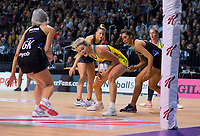 Gretel Tippett takes a pass during the Constellation Cup Netball Series match between the New Zealand Silver Ferns and Australia Diamonds at Horncastle Arena in Christchurch, New Zealand on Sunday, 13 October 2019. Photo: Dave Lintott / lintottphoto.co.nz
