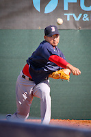 Pitcher Daisuke Matsuzaka, Boston Red Sox, returns for spring training, Fort Myers, Florida, USA, Feb. 13, 2011. Photo by Debi Pittman Wilkey