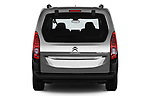 Straight rear view of a 2019 Citroen Berlingo Shine 5 Door MPV stock images