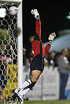 20 March 2004: Dusty Huddock flals away as Bobby Convey's freekick in the 83rd minute finds the corner of the net, giving DC United a 2-1 lead.. DC United defeated Charleston Battery 2-1 at Blackbaud Stadium in Charleston, SC in a Carolina Challenge Cup match...
