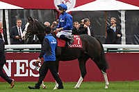 October 07, 2018, Longchamp, FRANCE - Talismanic with Mickael Barzalona up at the parade for the Qatar Prix de l'Arc de Triomphe (Gr. I) at  ParisLongchamp Race Course  [Copyright (c) Sandra Scherning/Eclipse Sportswire)]