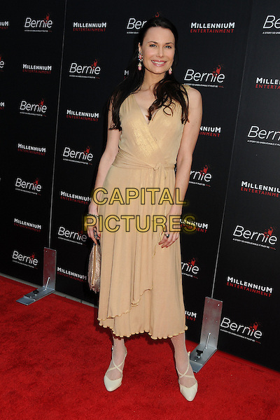"Jon Mack.""Bernie"" Los Angeles Special Screening held at Arclight Cinemas, Hollywood, California, USA..April 18th, 2012.full length yellow dress beige.CAP/ADM/BP.©Byron Purvis/AdMedia/Capital Pictures."