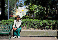 Park in theEscandon neighborhood, Mexico City
