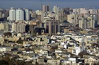 Azerbaijan. Baku Region. Baku.  Downtown. Old and new town center. © 2007 Didier Ruef