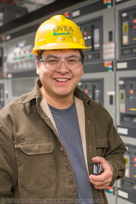 GVEA North Pole Power plant employee, North Pole, Alaska