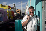 CAPE TOWN, SOUTH AFRICA - MARCH 14: The author Deon Meyer stands for a portrait in the Bo-Kaap area on March 14, 2012 in Cape Town, South Africa (Photo by Per-Anders Pettersson)
