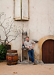 The Wine Route in early spring in Beaujolais, France. Mathieu Lapierre, son of the famed Marcel Lapierre, at the family's winery in Villie Morgon, one of the ten crus of Beaujolais.