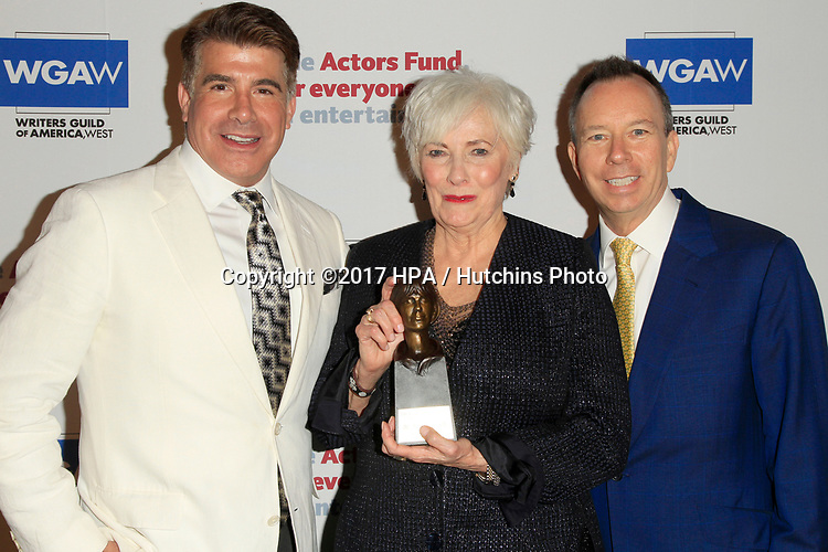 LOS ANGELES - JUN 11:  Brian Batt, Betty Buckley, Keith McNutt at the Actors Fund's 21st Annual Tony Awards Viewing Party at the Skirball Cultural Center on June 11, 2017 in Los Angeles, CA