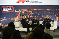27th February 2020; Circuit De Barcelona Catalunya, Barcelona, Catalonia, Spain; Formula 1 2nd Pre season Testing Day Two; Guenther Steiner, Team Principal of Haas F1 Team, Claire Williams, Deputy Team Principal of ROKiT Williams Racing and Franz Tost, Team Principal of Scuderia AlphaTauri Honda