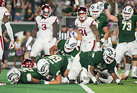 NWA Democrat-Gazette/BEN GOFF @NWABENGOFF<br /> Izzy Matthews, Colorado State running back, scores a touchdown in the 4th quarter vs Arkansas Saturday, Sept. 8, 2018, at Canvas Stadium in Fort Collins, Colo.