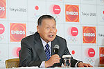 Yoshiro Mori, <br /> MARCH 18, 2015 : <br /> JX Nippon Oil &amp; Energy has Press conference <br /> in Tokyo. <br /> JX Nippon Oil &amp; Energy announced that <br /> it has entered into a partnership agreement with <br /> the Tokyo Organising Committee of the Olympic and Paralympic Games. <br /> With this agreement, JX Nippon Oil &amp; Energy becomes the gold partner. <br /> (Photo by YUTAKA/AFLO SPORT)