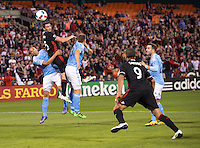 Washington, D.C. - May 8, 2016: New York City FC defeated D.C. United 2-0 during their Major League Soccer (MLS) match at RFK Stadium.