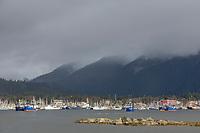 Boats in the Sitka Harbor, Sitka, Alaska.