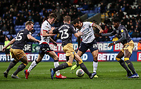 Bolton Wanderers' Josh Magennis shoots at goal <br /> <br /> Photographer Andrew Kearns/CameraSport<br /> <br /> The EFL Sky Bet Championship - Bolton Wanderers v Sheffield Wednesday - Tuesday 12th March 2019 - University of Bolton Stadium - Bolton<br /> <br /> World Copyright © 2019 CameraSport. All rights reserved. 43 Linden Ave. Countesthorpe. Leicester. England. LE8 5PG - Tel: +44 (0) 116 277 4147 - admin@camerasport.com - www.camerasport.com