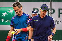 Paris, France, 30 May, 2019, Tennis, French Open, Roland Garros, Men's doubles second round: Wesley Koolhof (NED) (L) and Marcus Daniell (NZL)<br /> Photo: Henk Koster/tennisimages.com