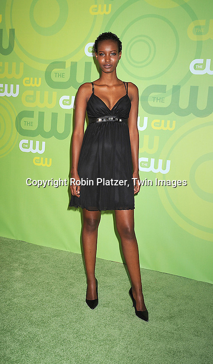 "model Fatima, finalist of ""America's Next Top Model Cycle 10..posing for photographers at The CW Upfront Announcement of their 2008-2009 Fall Season on May 13, 2008 at Lincoln Center.....Robin Platzer, Twin Images"