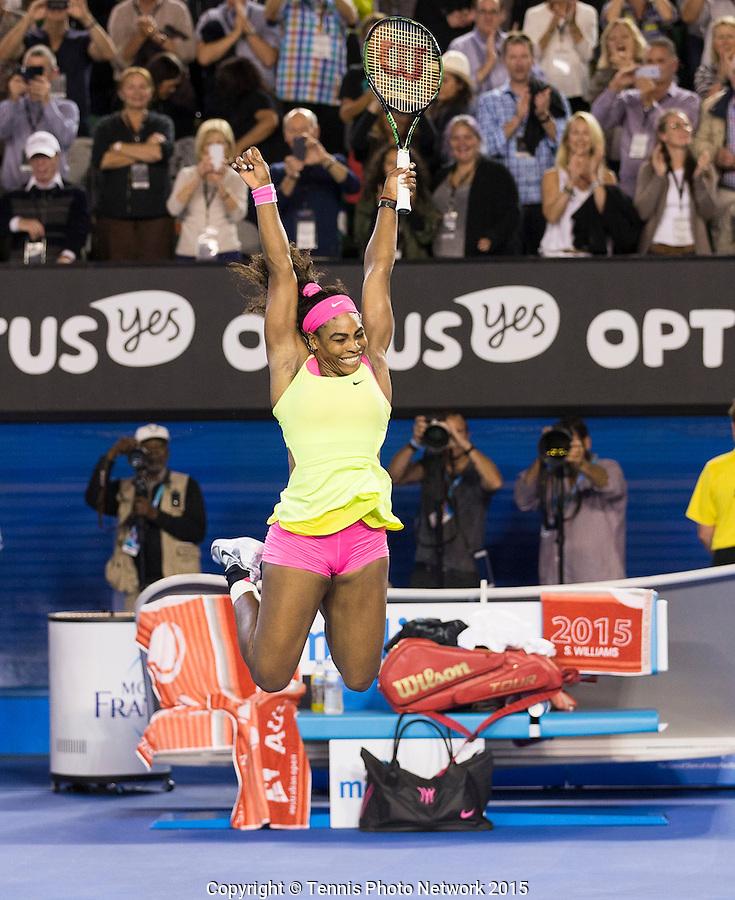 SERENA WILLIAMS (USA)<br /> <br /> Tennis - Australian Open 2015 - Grand Slam -  Melbourne Park - Melbourne - Victoria - Australia  - 31 January 2015. <br /> &copy; AMN IMAGES