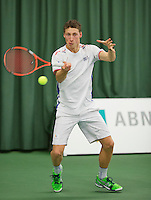Rotterdam, Netherlands, Januari 24, 2016,  ABNAMROWTT Supermatch, Mats Hermans (NED)<br /> Photo: Tennisimages/Henk Koster