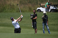 Media attention for Trevor Fisher Jnr (RSA) as he adds three more shots (-10) during Round Two of The Tshwane Open 2014 at the Els (Copperleaf) Golf Club, City of Tshwane, Pretoria, South Africa. Picture:  David Lloyd / www.golffile.ie