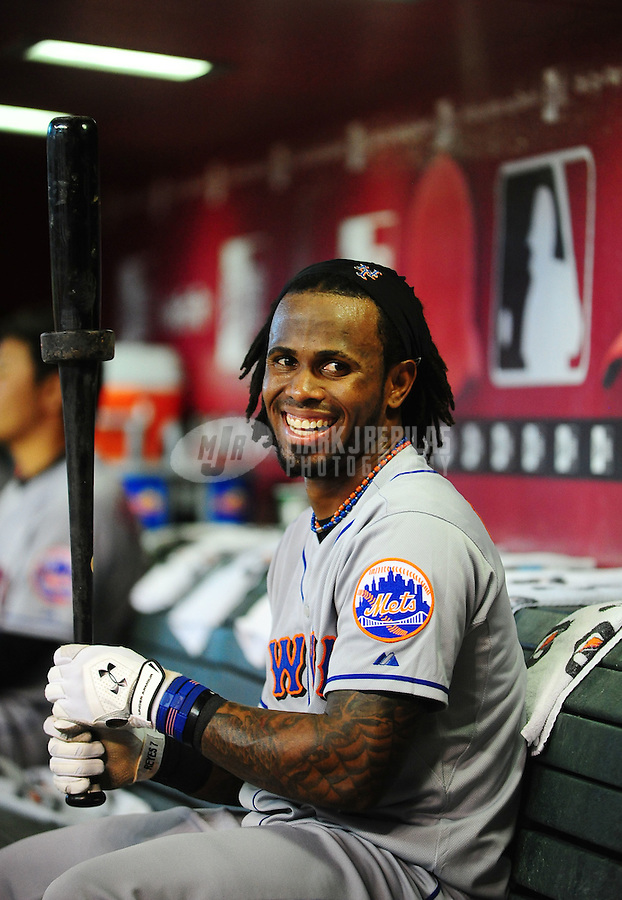 Jul. 20, 2010; Phoenix, AZ, USA; New York Mets shortstop Jose Reyes against the Arizona Diamondbacks at Chase Field. Mandatory Credit: Mark J. Rebilas-
