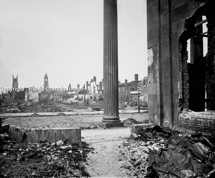 Ruins in Charleston, South Carolina., 1865. Mathew Brady Collection. (Army)<br /> Exact Date Shot Unknown<br /> NARA FILE #: 111-B-4667<br /> WAR & CONFLICT BOOK #:  245