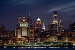 The Philadelphia Skyline at Night from Camden NJ