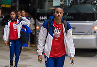, FL - : Adrianna Franch #21 of the United States walks into the stadium during a game between  at  on ,  in , Florida.