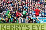 Danny O'Sullivan Glenbeigh Glencar in action against Ciaran Gourle Rock Saint Patricks in the Junior Football All Ireland Final in Croke Park on Sunday.