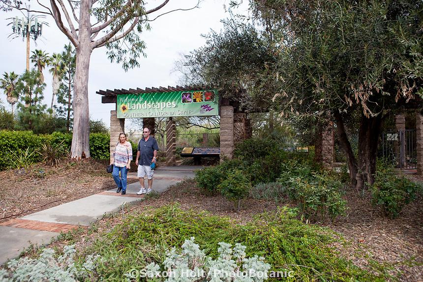 Landscape Southern California Style  -demonstration garden by Western Municipal Water District, Riverside California