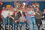 Thomas Chawke, seated from Lismore Tralee celebrated his 21st birthday and friends at Herbert's bar Kilflynn on Friday night.   .   Copyright Kerry's Eye 2008