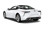 Car pictures of rear three quarter view of 2018 Lexus LC 500 4 Door Sedan angular rear