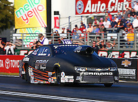 Feb 6, 2015; Pomona, CA, USA; NHRA pro stock driver Jonathan Gray during qualifying for the Winternationals at Auto Club Raceway at Pomona. Mandatory Credit: Mark J. Rebilas-