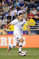 Clint Dempsey (8) of the United States (USA). The men's national teams of the United States (USA) and Colombia (COL) played to a 0-0 tie during an international friendly at PPL Park in Chester, PA, on October 12, 2010.