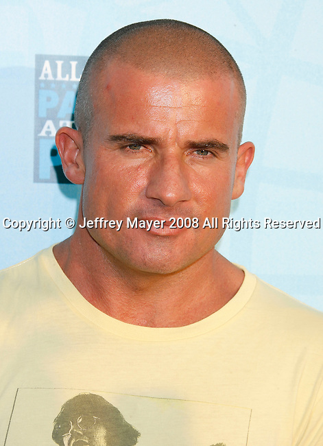 Actor Dominic Purcell arrives at the Fox All-Star Party At The Pier at the Santa Monica Pier on July 14, 2008 in Santa Monica, California.