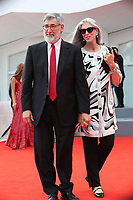 John Landis and Deborah Nadoolman Landis arrive at the Award Ceremony of the 74th Venice Film Festival at Sala Grande on September 9, 2017 in Venice, Italy. <br /> CAP/GOL<br /> &copy;GOL/Capital Pictures