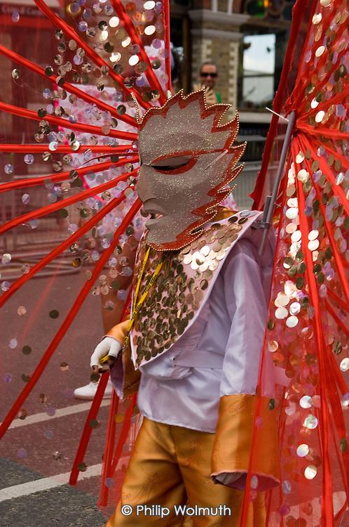 Paddington Arts/Elimu mas band parade on children's day at Notting Hill Carnival