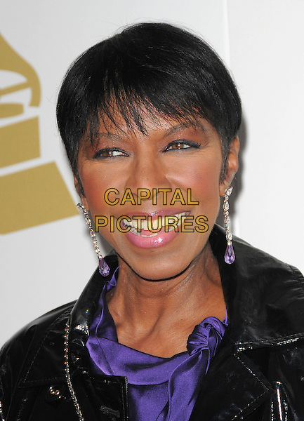 NATALIE COLE <br /> attends The GRAMMY Nominations Concert Live!! held at Nokia Theatre L.A. Live in Los Angeles, California on December 3rd 2008.<br /> portrait headshot dangly earrings purple <br /> CAP/DVS<br /> &copy;Debbie VanStory/Capital Pictures