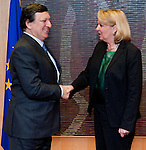 Brussels-Belgium, March 07, 2012 -- Jose (José) Manuel BARROSO (le), President of the European Commission, receives Hannelore KRAFT (ri), Prime Minister / Minister-President of  North Rhine-Westphalia (NRW / Germany) -- Photo: © HorstWagner.eu