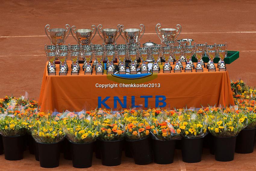 10-08-13, Netherlands, Rotterdam,  TV Victoria, Tennis, NJK 2013, National Junior Tennis Championships 2013,  Trophy table<br /> <br /> Photo: Henk Koster