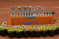 10-08-13, Netherlands, Rotterdam,  TV Victoria, Tennis, NJK 2013, National Junior Tennis Championships 2013,  Trophy table<br /> <br /> Photo: Henk Koster